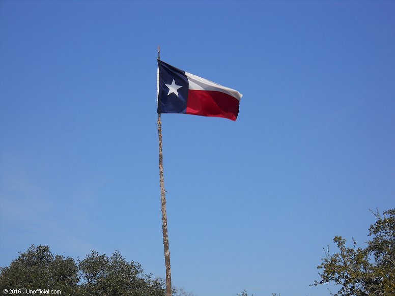 Texas flag in northwest Travis County, Texas