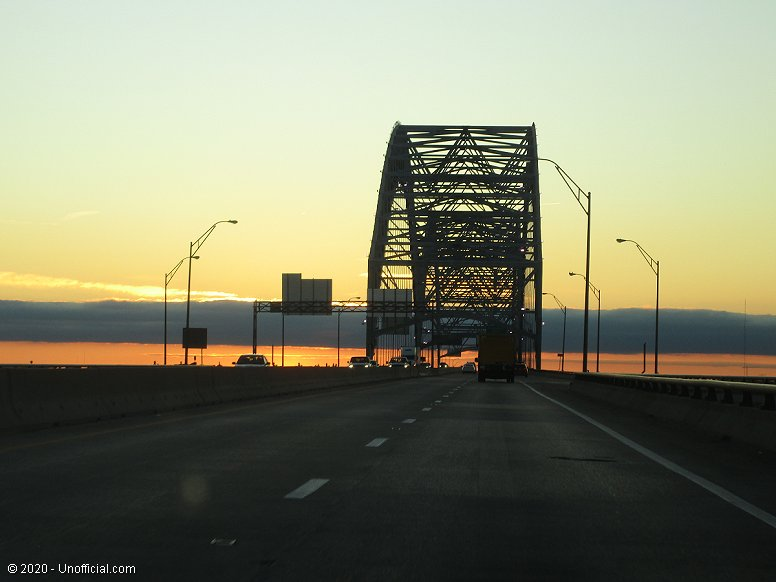 Tennessee - Arkansas Bridge over the Mississippi River at sunset, Memphis, Tennessee