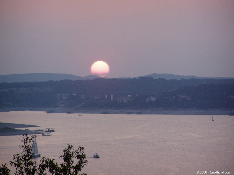 Sunset at Lake Travis, Texas