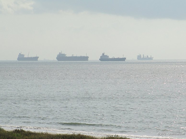 Tankers in Galveston Bay, Texas